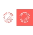 Cleaning service vintage logos vector