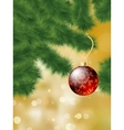 Christmas tree bauble vector
