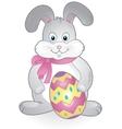 Funny happy easter bunny vector