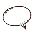Speech bubble dialog element vector