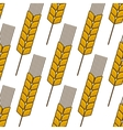 Seamless background pattern of an ear of wheat vector