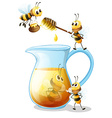 Bees and honey vector