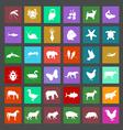 Flat animal icons vector