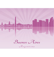 Buenos aires skyline in purple radiant orchid vector