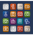 Photography design camera icon over colorful eps10 vector