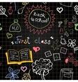 Chalkboard school seamless pattern vector