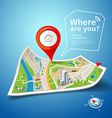 Map points navigatorfolded maps navigation vector