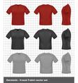 T-shirt set vector