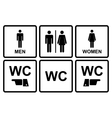Male and female wc icon denoting toilet and vector