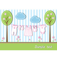New baby girl card vector