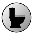 Toilet button vector
