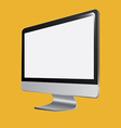 Monitor computer design vector