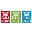 Call now - call us - free call vector