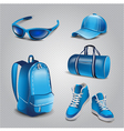 Realistic sport objects icons vector