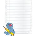 Bear cub a notebook cartoon vector