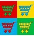 Pop art buy cart vector
