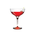 Ai10 glass drink red cerry vector
