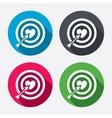 Target aim sign icon darts board symbol vector