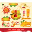 Juices fruit vector