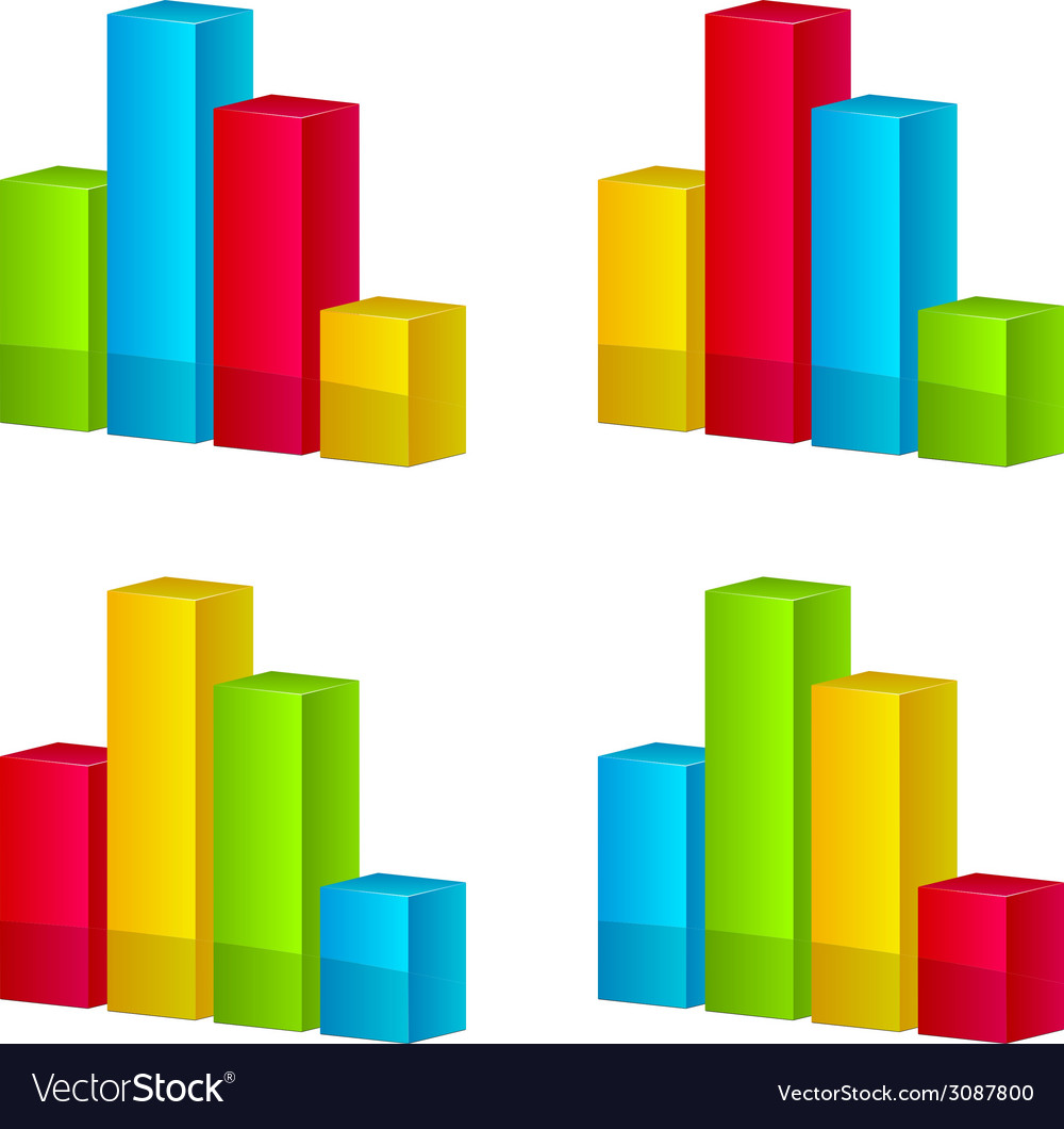 3d shiny graphs vector | Price: 1 Credit (USD $1)