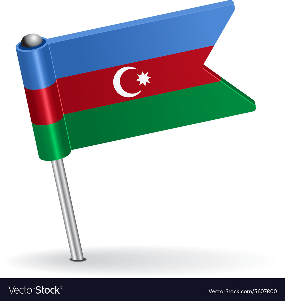 Azerbaijan pin icon flag vector | Price: 1 Credit (USD $1)