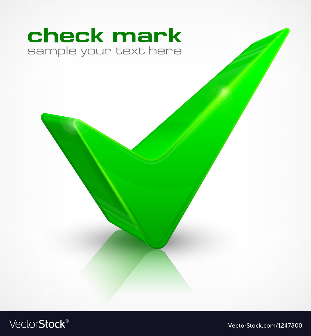 Check mark on white vector | Price: 1 Credit (USD $1)