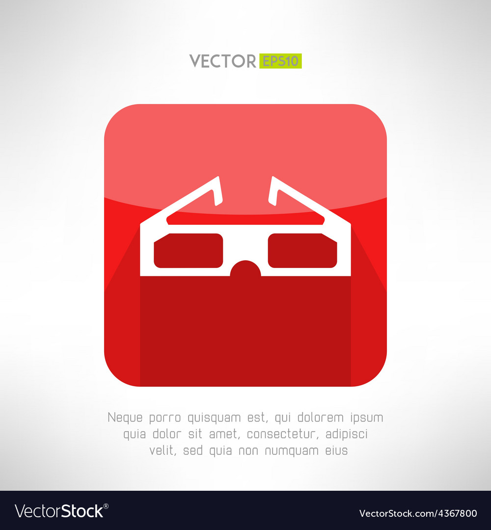 Cinema 3d glasses icon in modern clean and simple vector | Price: 1 Credit (USD $1)