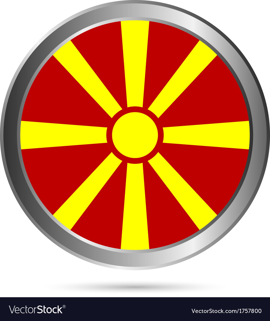 Macedonia flag button vector | Price: 1 Credit (USD $1)