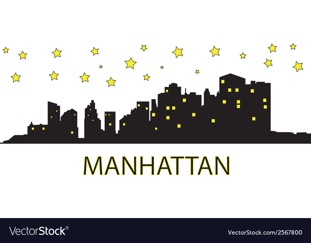 Manhattan with stars vector | Price: 1 Credit (USD $1)