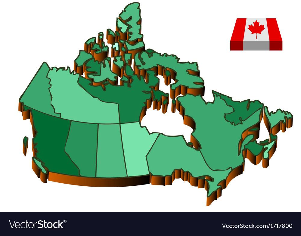 Map canada vector | Price: 1 Credit (USD $1)