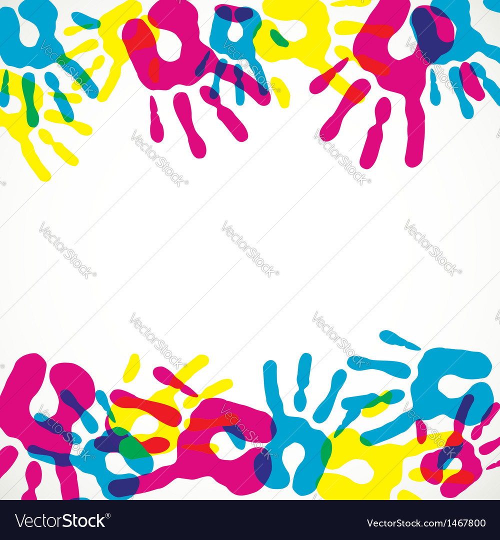 Multicolor diversity hands background vector | Price: 1 Credit (USD $1)