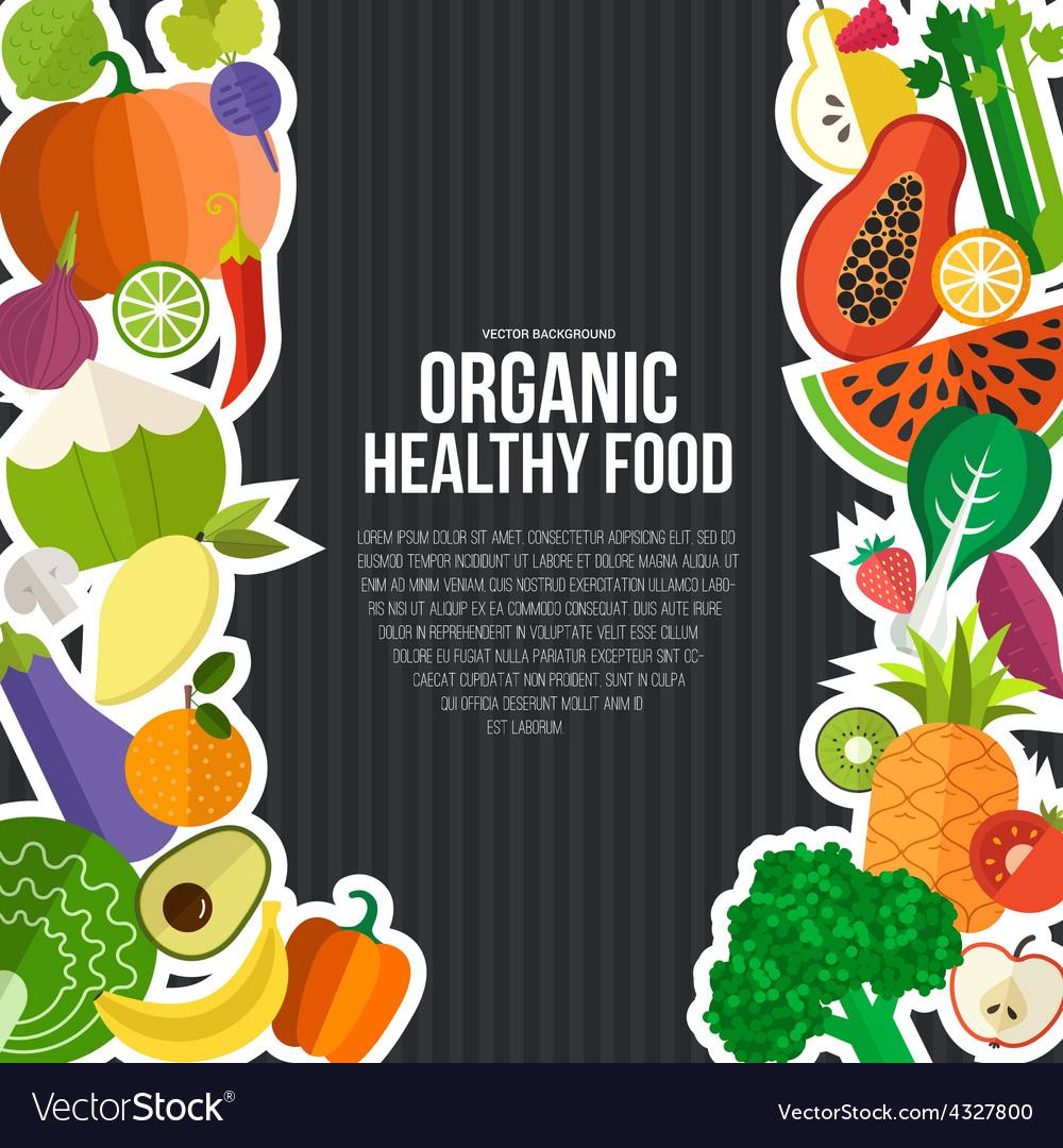 Organic food concept vector   Price: 1 Credit (USD $1)