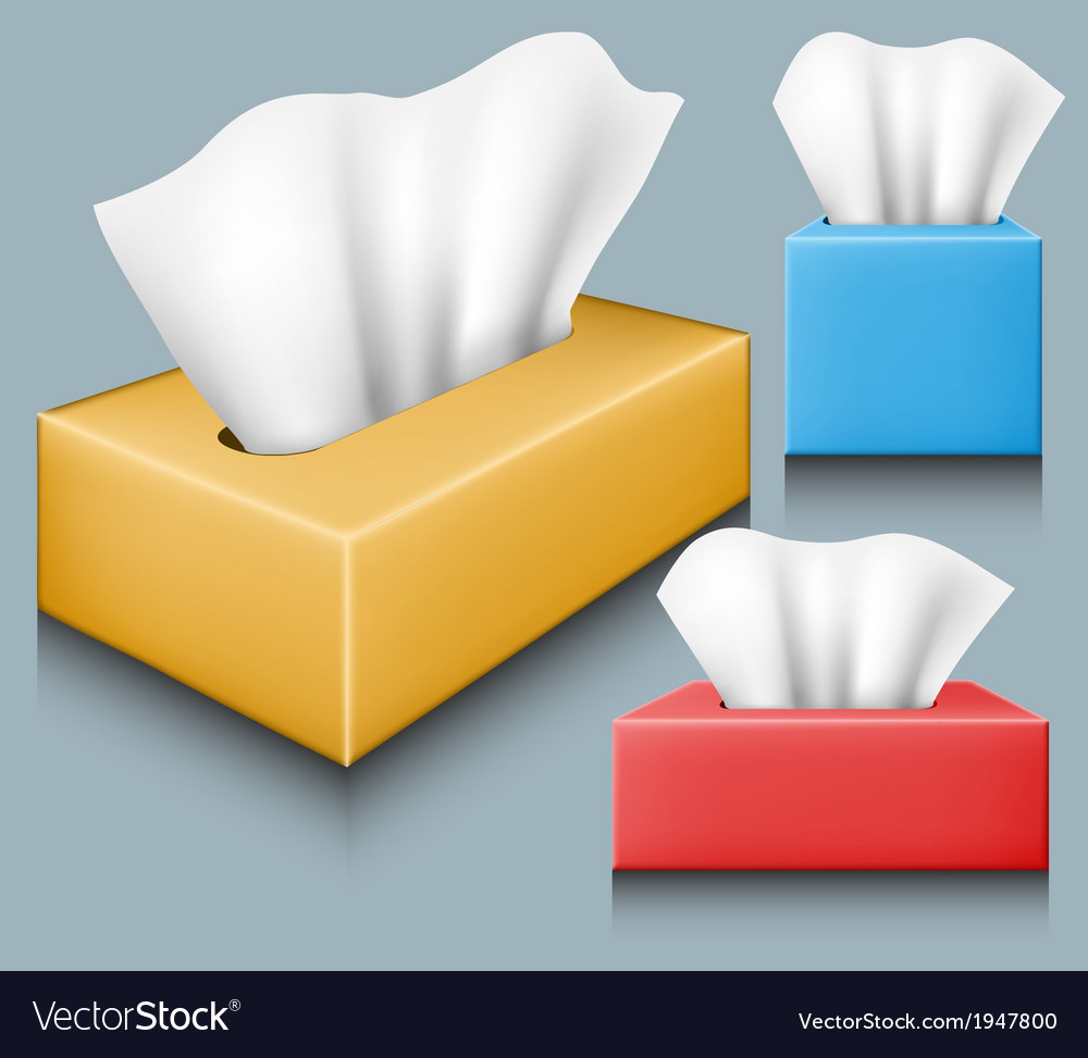 Tissue box set vector | Price: 1 Credit (USD $1)