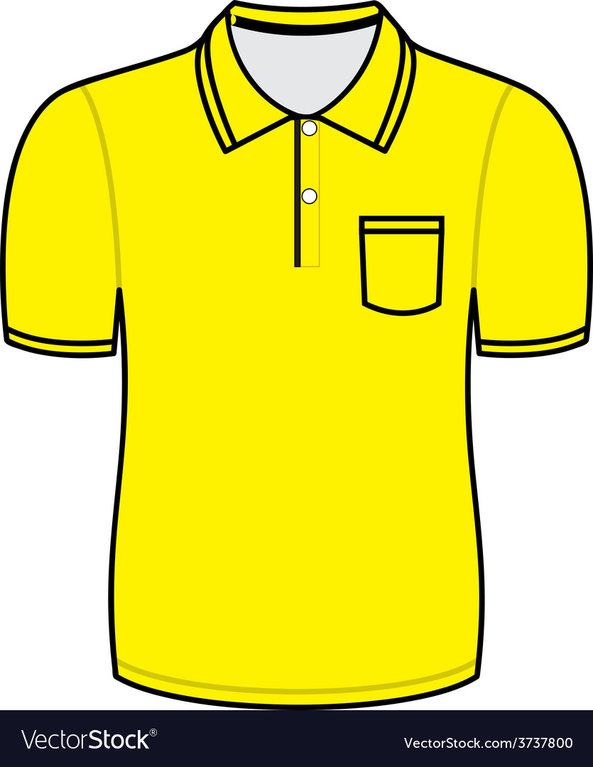 Yellow polo shirt outline vector | Price: 1 Credit (USD $1)