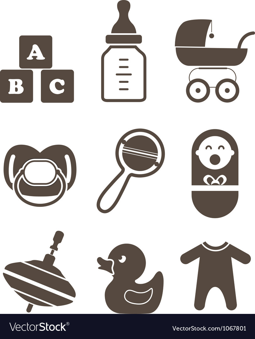 Baby elements vector | Price: 1 Credit (USD $1)