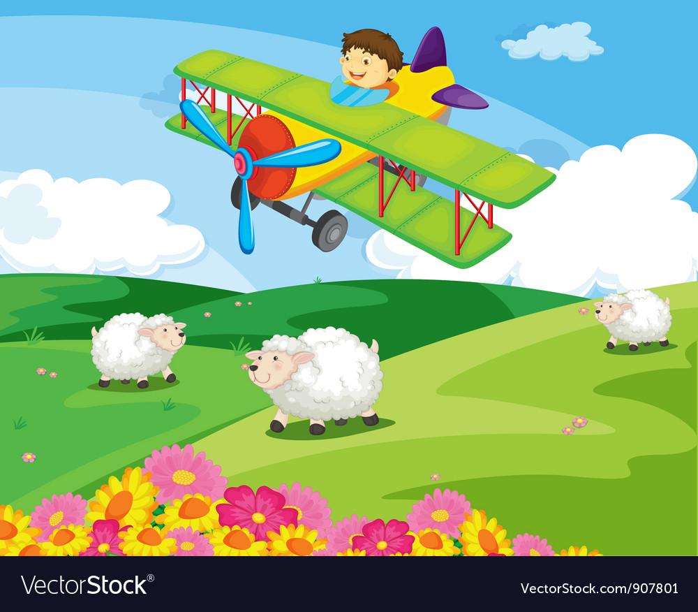 Flying boy vector | Price: 3 Credit (USD $3)