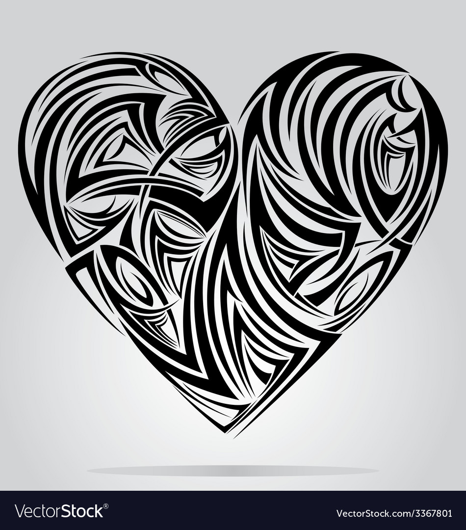 Heart shape tribal vector | Price: 1 Credit (USD $1)