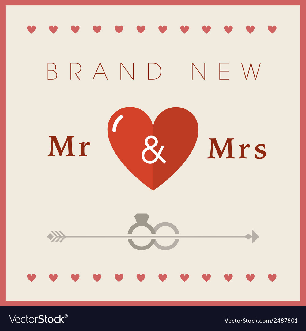 Heart theme wedding card vector | Price: 1 Credit (USD $1)