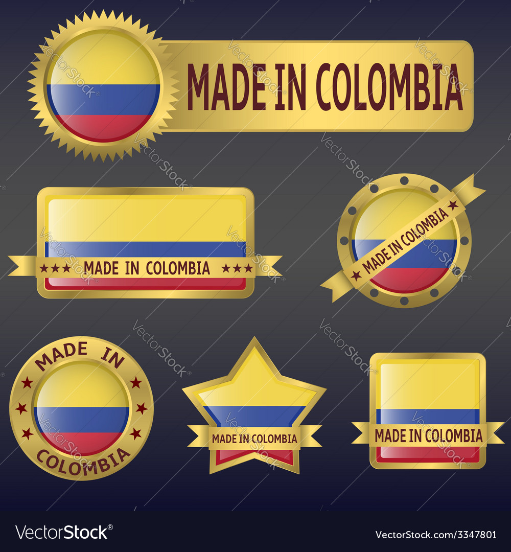 Made in colombia vector | Price: 3 Credit (USD $3)
