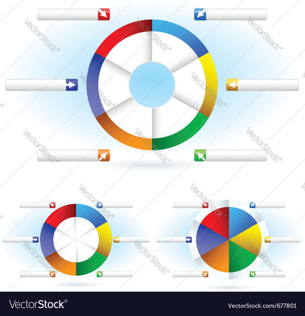 Pie charts vector | Price: 1 Credit (USD $1)
