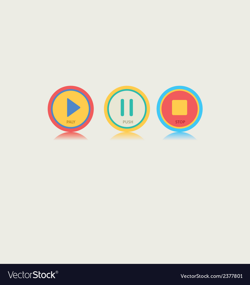 Round music play button vector | Price: 1 Credit (USD $1)