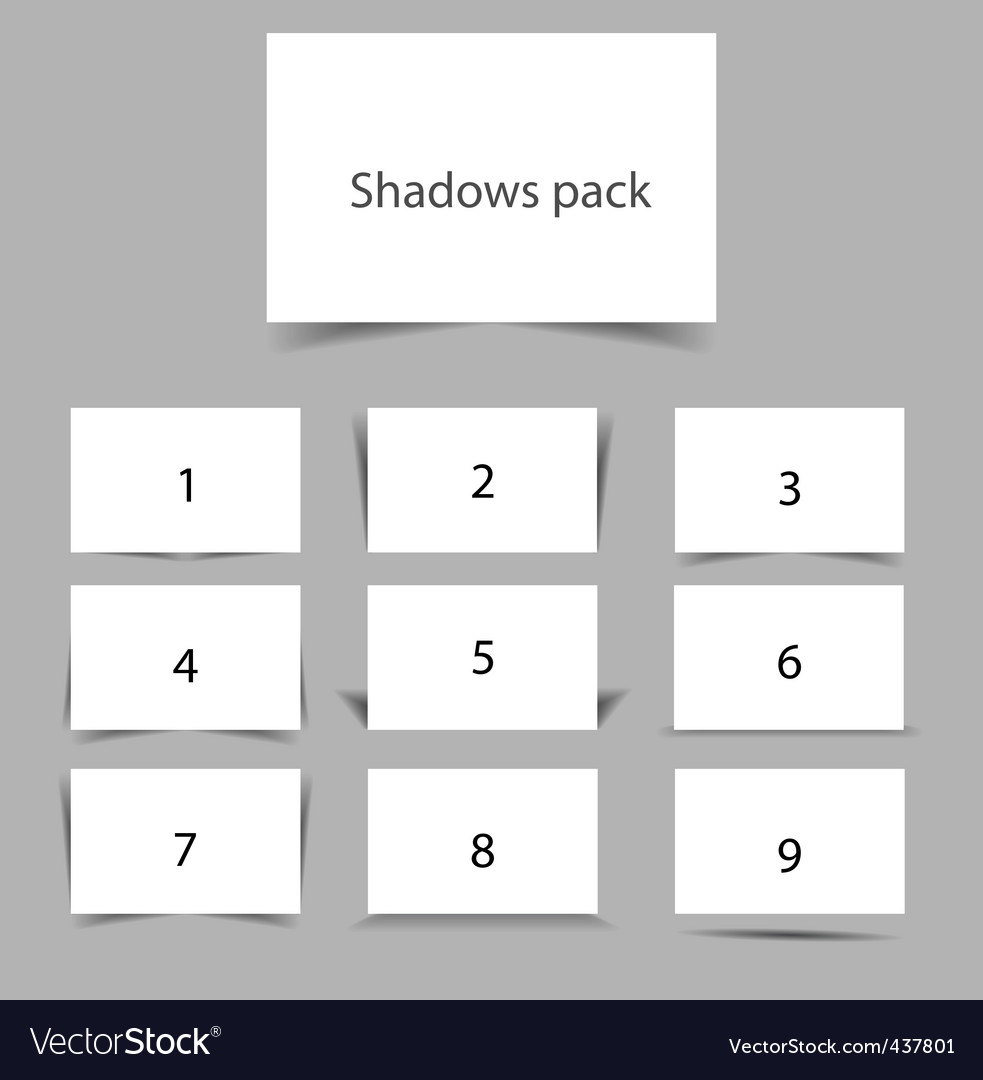 Shadows pack vector | Price: 1 Credit (USD $1)