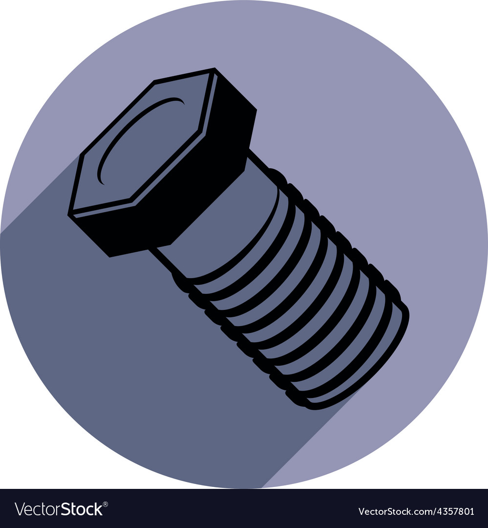 Three-dimensional bolt spare part used in vector | Price: 1 Credit (USD $1)