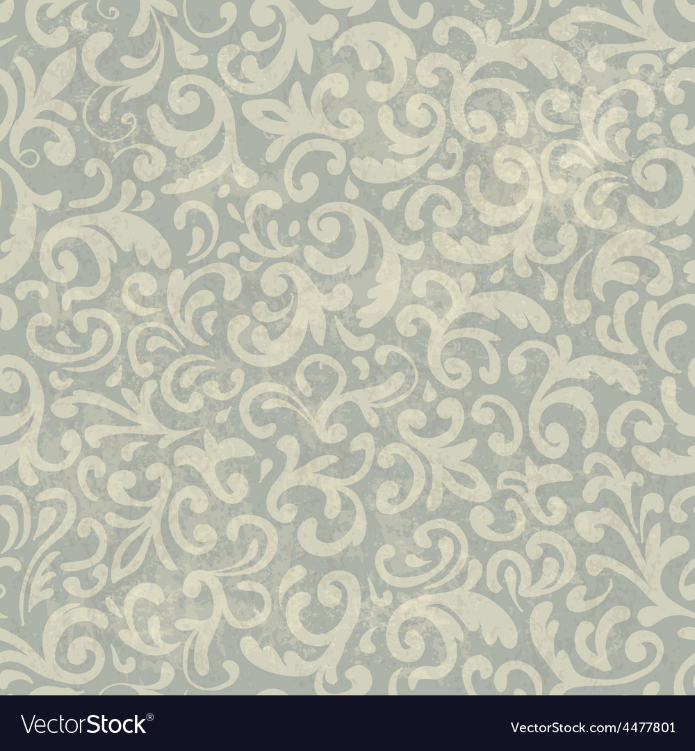 Vintage floral aged pattern vector | Price: 1 Credit (USD $1)