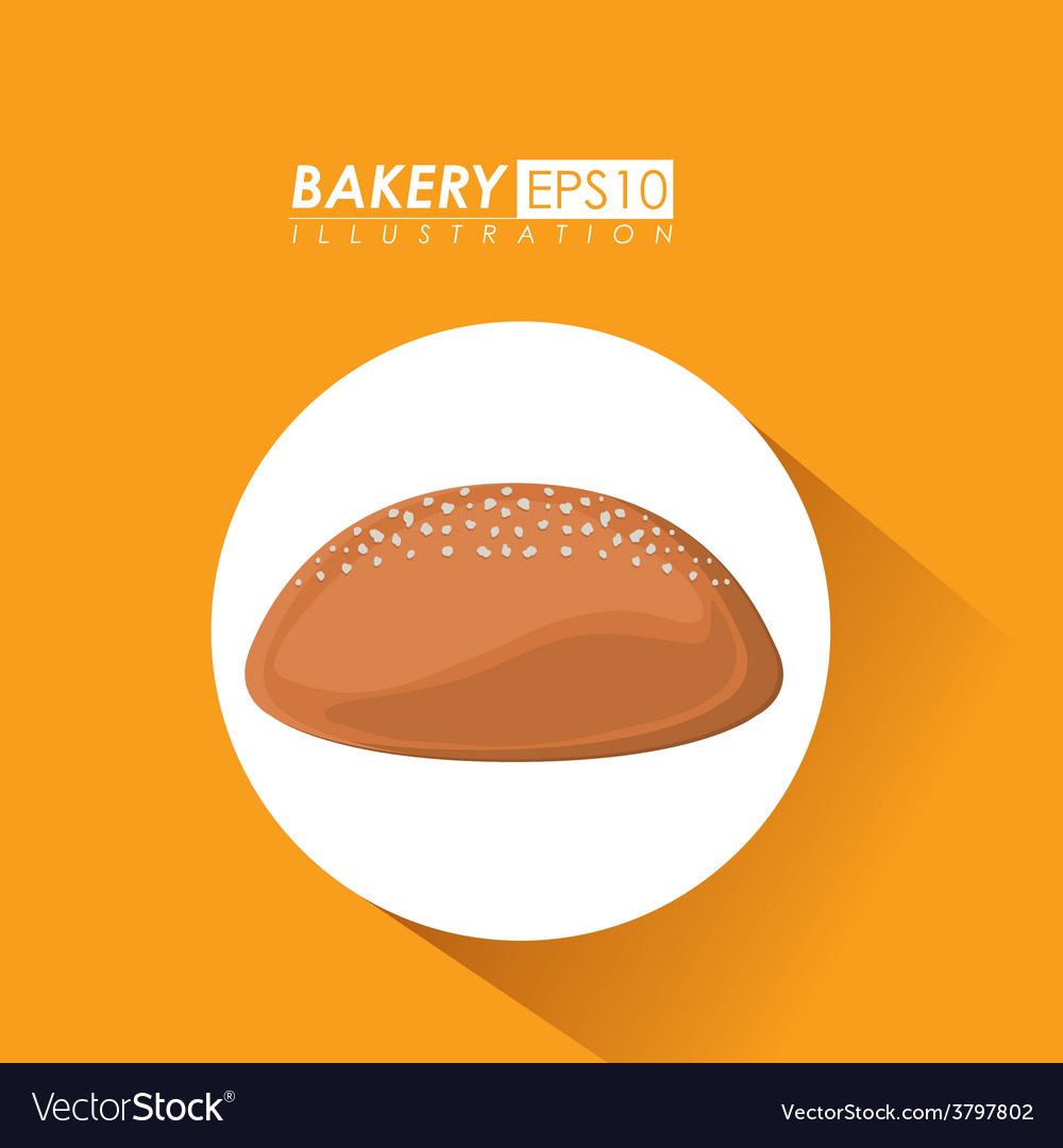 Bakery design over yelllow background vector | Price: 1 Credit (USD $1)