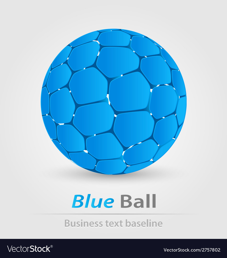 Blue ball elegant icon vector | Price: 1 Credit (USD $1)