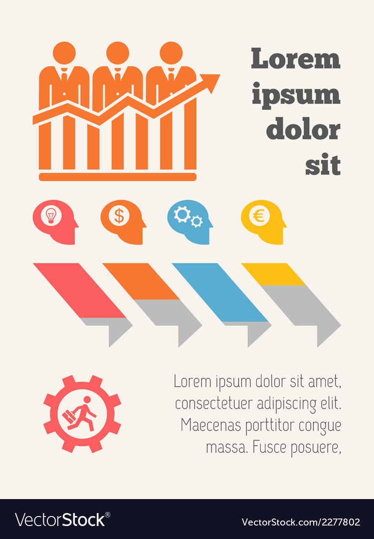 Business infographic elements vector | Price: 1 Credit (USD $1)