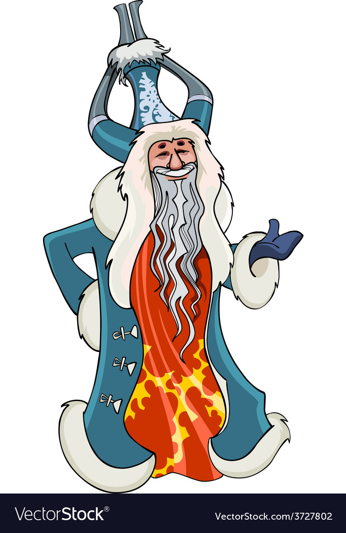 Cartoon chinese grandfather christmas vector | Price: 3 Credit (USD $3)