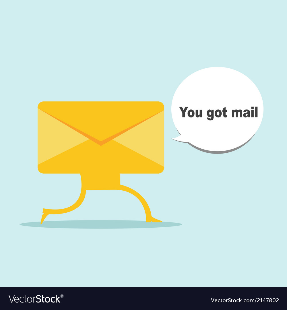 Cartoon yellow envelope in flat design vector | Price: 1 Credit (USD $1)