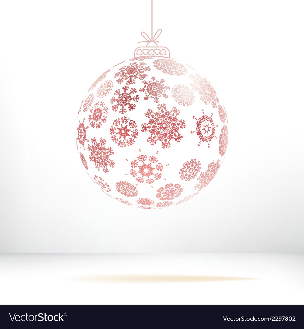 Christmas ball made from snowflakes  eps8 vector | Price: 1 Credit (USD $1)
